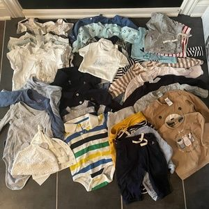 36 Pieces Lot of boy clothing 6-9 9-12 months